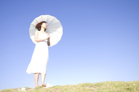 Parasol Lady Reklamní fotografie