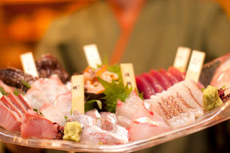 rawness: The clerk with the sashimi platter