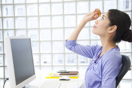 refers: OL, which refers to the eye drops Stock Photo