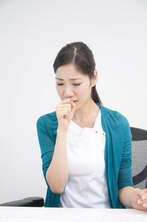 ol: OL to cough Stock Photo