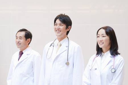 3 people: 3 people smile of doctor