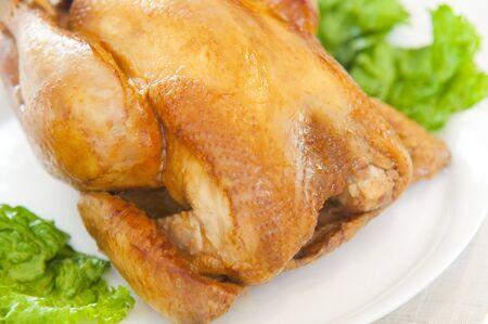 pollos asados: Pollo asado Foto de archivo
