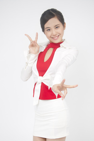 despatch: Campaign girl for the V sign
