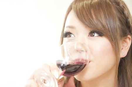 resound: Winedrinking women Stock Photo