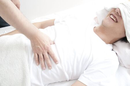 induce: people in relaxation Stock Photo