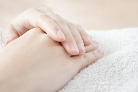 healing with sound: Female hand