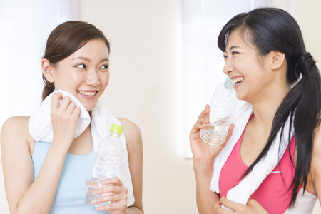 water sport: Two women to chat over a cup of water