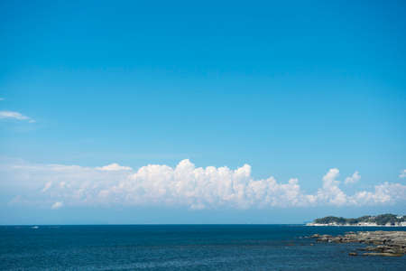 ultramarine blue: Sky and sea