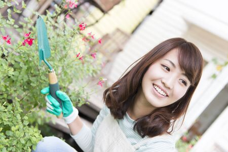woman gardening: Woman gardening Stock Photo