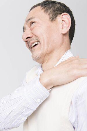 stiff: Stiff neck smiles easier senior men