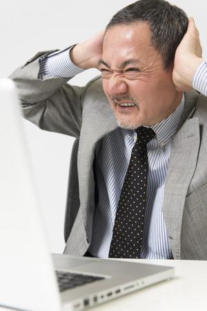 frustrating: The frustrating businessman Stock Photo