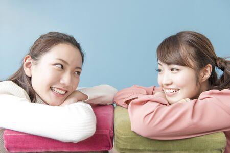 sprawl: Two smiling women