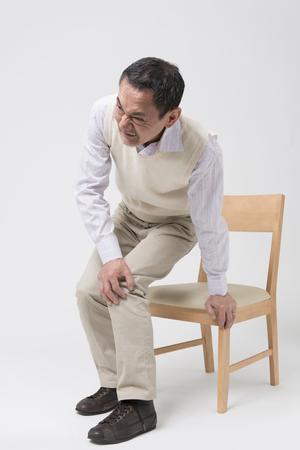 Senior men complain of joint pain