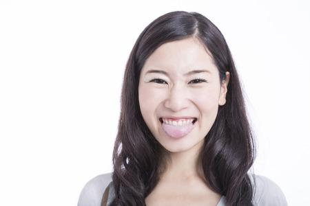female tongue: A female tongue Stock Photo