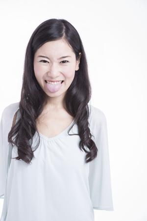 A female tongue Stock Photo