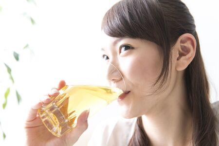woman drinking tea: Woman drinking tea
