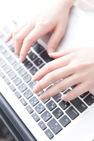 private parts: Woman hit a laptop keyboard