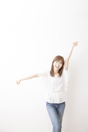 Smiling woman Stock Photo