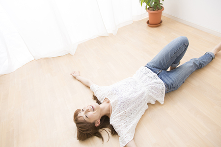 sprawled: Woman laying in the flow Rong