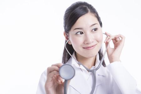 stethoscope: Female doctor with stethoscope