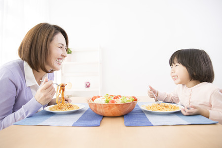 To eat the mother and daughter Imagens