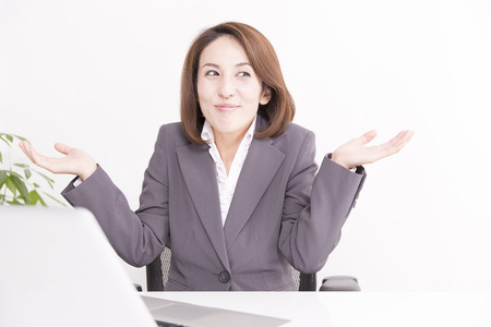 OL that the gesture of do not know Stock Photo