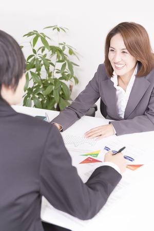 OL ビジネスマンとの会合に 写真素材 - 49348661