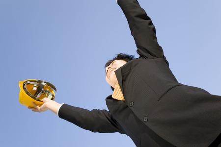 to rejoice: Businessmen rejoice success