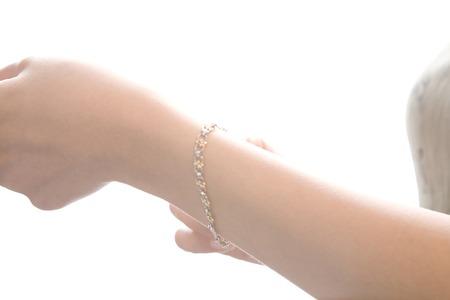 wrist: Wrist with a bracelet