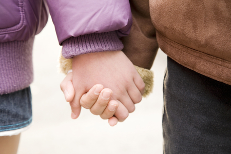 come home: Childrens hands