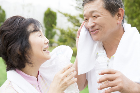 Smiling senior couple 版權商用圖片