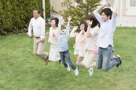3 generation: 3 generation family to jump