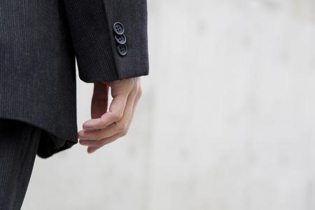 circumference: Hand of businessman