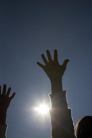 compulsory: Childrens hands