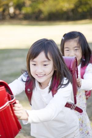 compulsory: Girl playing Stock Photo