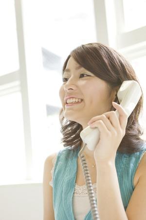 telephoning: Women during telephoning Stock Photo