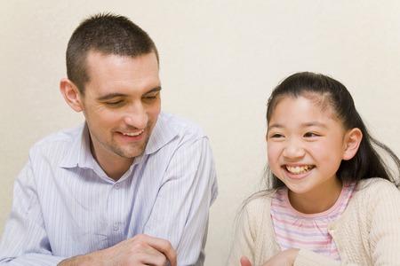 De leraar en haar leerlingen Stockfoto