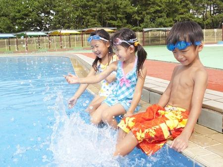 wading: Children swimsuit for bathing