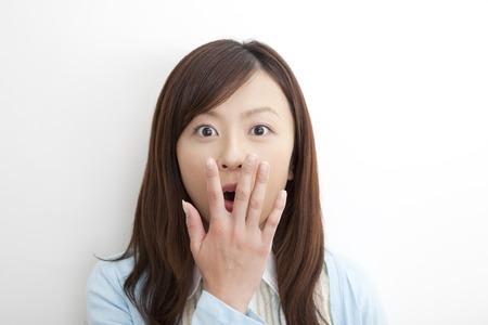 Woman surprised Stockfoto