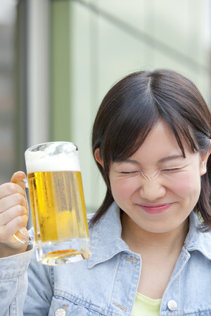 College students to drink beer Stock Photo