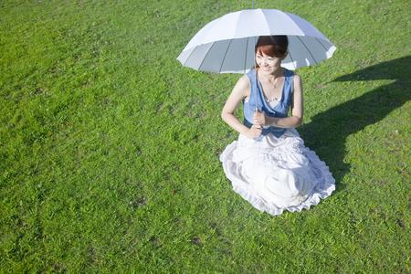 parasol: Woman with a parasol