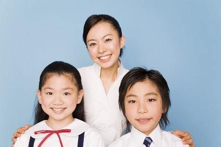 The teacher and her students Stock Photo