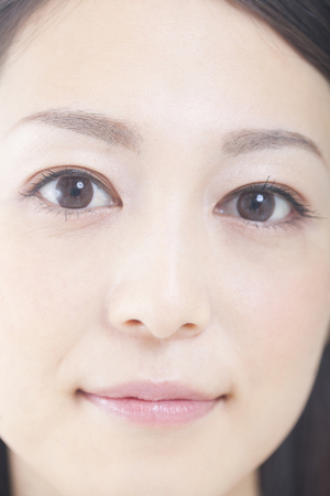 asian woman face: Face-up of woman