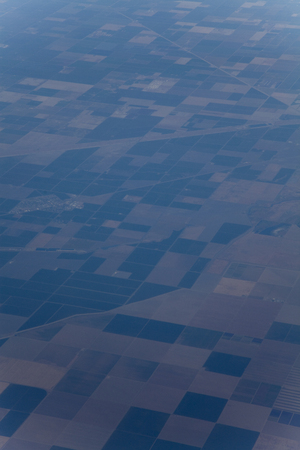 are taken: Field taken from the airplane