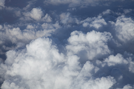 foreign country: Clouds taken from airplane