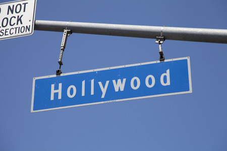 foreign country: Signs of Hollywood Stock Photo