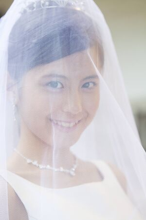 suffered: Bride who suffered a veil