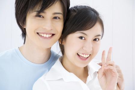 Young couple portrait 스톡 콘텐츠