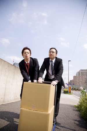 deliverables: Businessman to delivery work