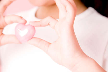 unrequited love: Children with Heart Stock Photo